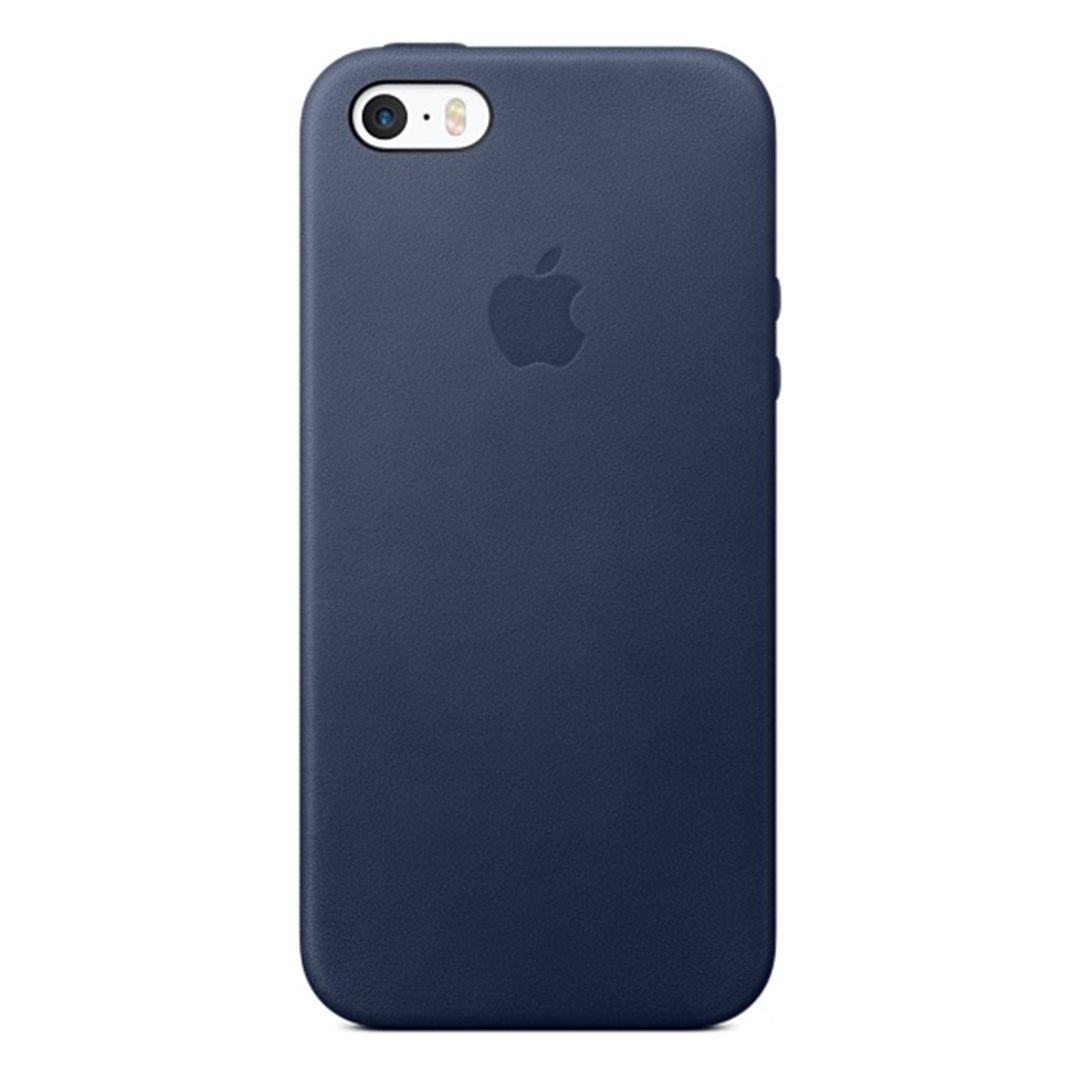 iPhone SE Leather Case - Midnight Blue