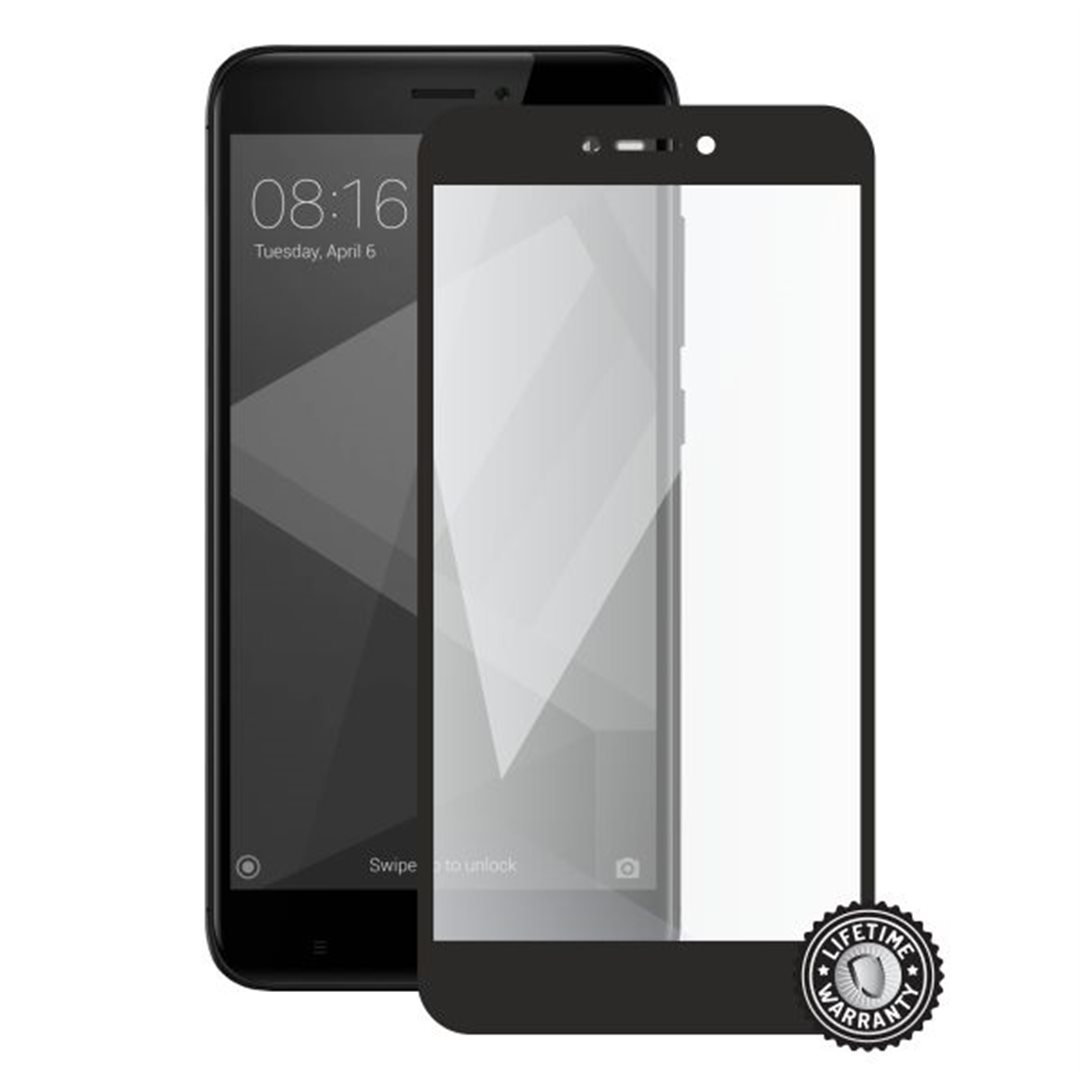 Screenshield Xiaomi Redmi 4x Global Tempered Glass Protection Full Cover Black