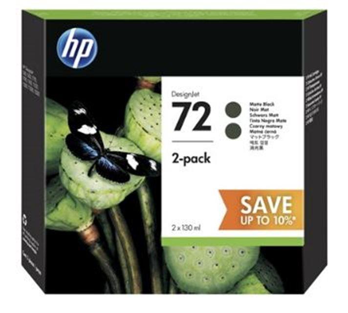 HP no 72 - matná černá ink.kazeta - 2 pack, P2V33A