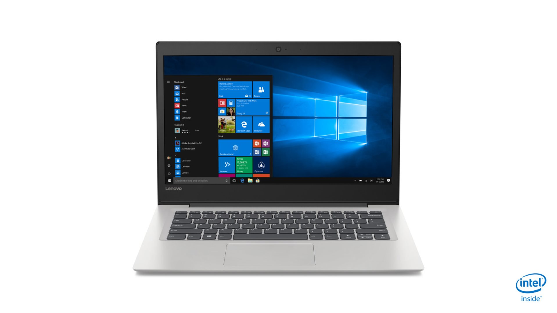 IP S130 14 FHD/N5000/4GB/64G/INT/W10S mode šedý + Office 365 na rok zdarma