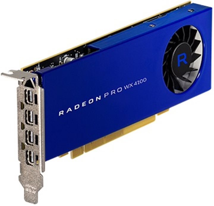 HP Radeon Pro WX 4100 4GB 4x mDP LowProfile