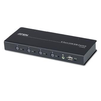 ATEN 4-port KM USB, audio, pouze klávesnice a myš