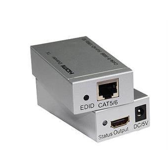 HDMI extender na 60m přes jeden kabel Cat5e/Cat6
