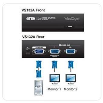 ATEN Video rozbočovač 1 PC - 2 VGA 450 MHz