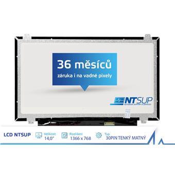 """LCD PANEL NTSUP 14,0"""" 1366x768 30PIN TENKÝ MATNÝ"""