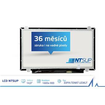 """LCD PANEL NTSUP 14,0"""" 1600x900 30PIN TENKÝ LESKLÝ"""