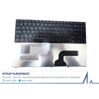 NTSUP Klávesnice Asus ver.1 K53 A43 A52 A53 B53 G60 G53 G72 G73 K52 N50 N51 N53 N60 N61 černá CZ/SK