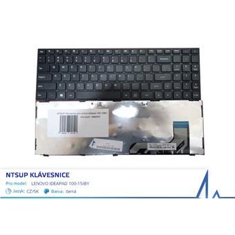NTSUP Klávesnice pro Lenovo IdeaPad 100-15IBY černá CZ/SK