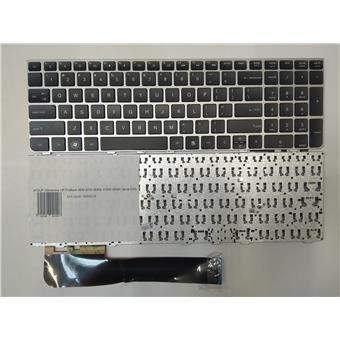 NTSUP Klávesnice HP ProBook 4530 4730 4530S 4730S 4535S 4735S černá, stříbrný rámeček ENG
