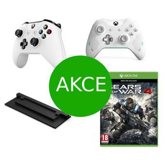 AKCE: 2 x Bezdrátový ovladač Xbox One + dárky ZDARMA (hra Gears of War 4, vertikální stojan pro X1S)