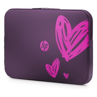 HP 15.6 Hearts (purple) Valentine Sleeve