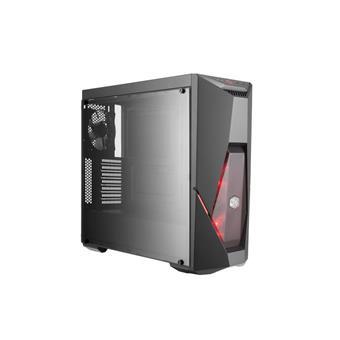 case Cooler Master MasterBox K500L ,herní ATX, 2x červené LED ventilátory, 2x USB3.0, bez zdroje