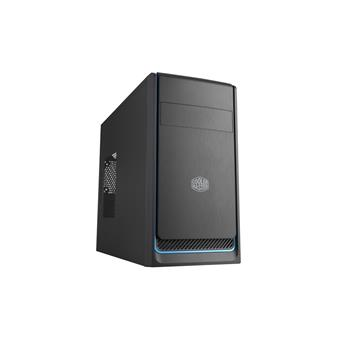 case Cooler Master MasterBox E300L, modrý rámeček, Micro-ATX, 2x USB 3.0, bez zdroje