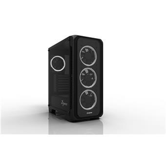 case Zalman miditower Z7 NEO, miniITX/microATX/ATX, panely z tvrzeného skla, 4x 120mm RGB ventilátor