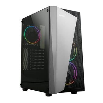 case Zalman miditower S4 Plus, ATX/mATX/Mini-ITX, bez zdroje, 3× RGB ventilátor, USB3.0, černá
