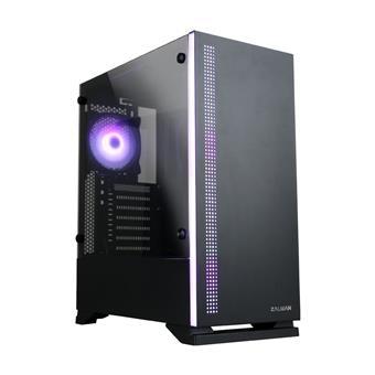 case Zalman miditower S5 Black, ATX/mATX/Mini-ITX, bez zdroje, 1×RGB ventilátor, USB3.0, černá