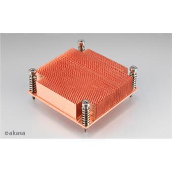 AKASA chladič CPU - 1U měděný - Intel - pasivní