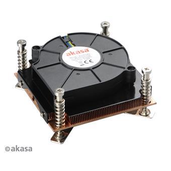 AKASA chladič CPU - 1U měděný - Intel - aktivní