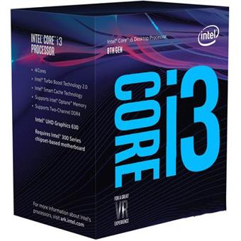 CPU Intel Core i3-8100 BOX (3.6GHz, LGA1151, VGA)