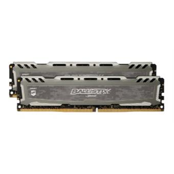 32GB DDR4 3000MHz Crucial Ballistix Sport LT CL16 DR 2x16GB Grey