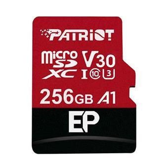 256GB microSDXC Patriot V30 A1, class 10 U3 100/80MB/s + adapter