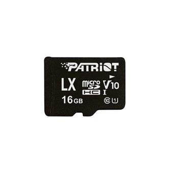 16GB microSDHC Patriot V10, class 10 U1 až 80MB/s + adapter