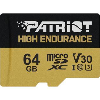 64GB microSDXC Patriot High Endurance V30 U3 až 95MB/s