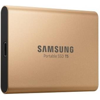 SSD 500GB Samsung externí, Zlatý
