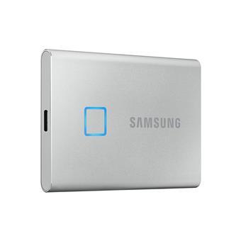 SSD 1TB Samsung externí T7 Touch, stříbrný
