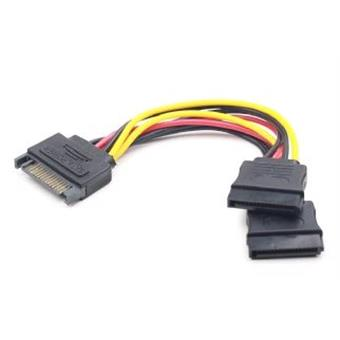 Kabel SATA napájecí na 2x SATA, rozdvojka, 15cm