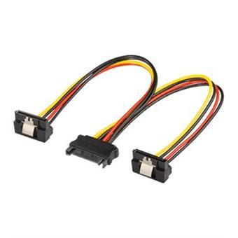 PremiumCord  Napájecí rozdvojka k HDD SATA - 2x SATA zalomený 90°
