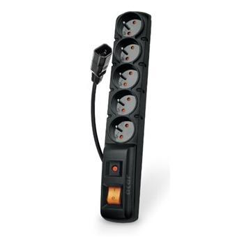 Acar F5 IEC 1.5m kabel, 5 zásuvek, přepěťová ochrana, C14 do UPS, černý
