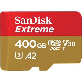 SanDisk Extreme microSDXC 400GB 160MB/s + adaptér