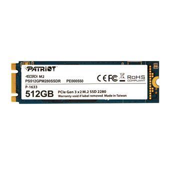 SSD 512GB PATRIOT Scorch M.2 2280 PCIe NVMe