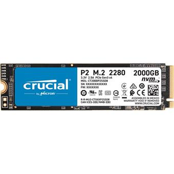 Crucial P2 2TB M.2 NVMe 2400/1900MB/s