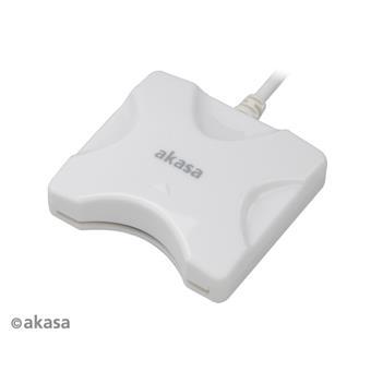 AKASA externí čtečka Smart karet - bílá