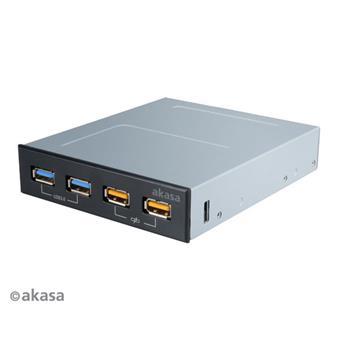 AKASA USB nabíjecí panel 2x USB 3.0 + 2x USB fast