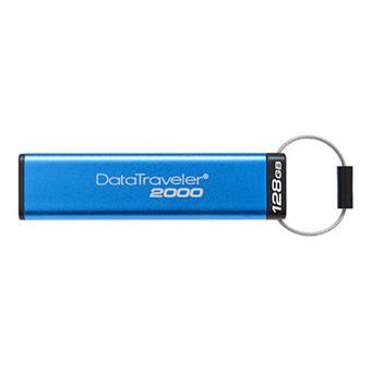 128GB Kingston USB 3.0 DT2000 HW šifrování, keypad