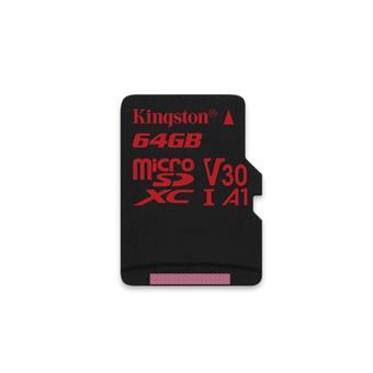 64GB microSDXC Kingston Canvas React  U3 100R/70W V30 A1 + bez adapteru