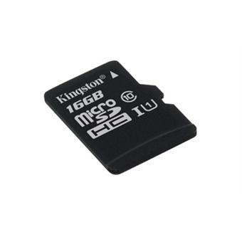 16GB microSDHC Kingston CL10 UHS-I 80R bez adap.