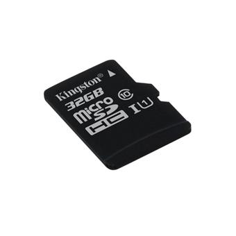 32GB microSDHC Kingston CL10 UHS-I 80R bez adap.