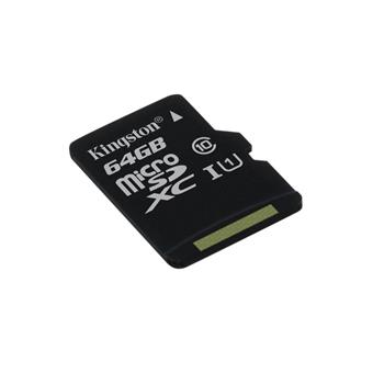 64GB microSDXC Kingston CL10 UHS-I 80R bez adap.