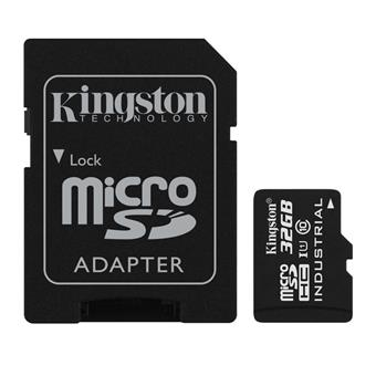32GB microSDHC Kingston UHS-I Industrial Temp + SD adapter