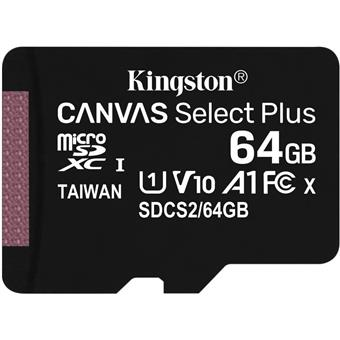 64GB microSDXC Kingston Canvas Select Plus  A1 CL10 100MB/s bez adapteru