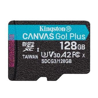 64GB microSDXC Kingston Canvas Go! Plus A2 U3 V30 170MB/s bez adapteru
