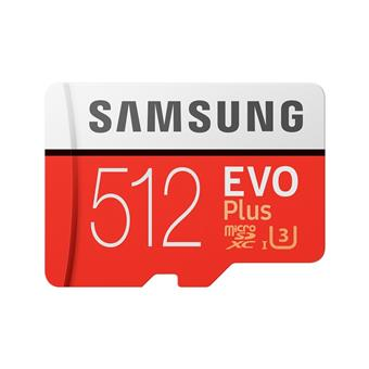Micro SDXC 512GB Samsung EVO Plus + SD adaptér