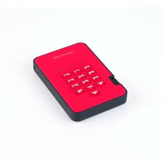 diskAshur2 SSD 256-bit 4TB - Red