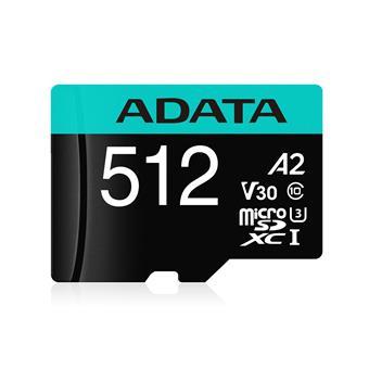 ADATA MicroSDXC 512GB U3 V30S až 95MB/s + adapter