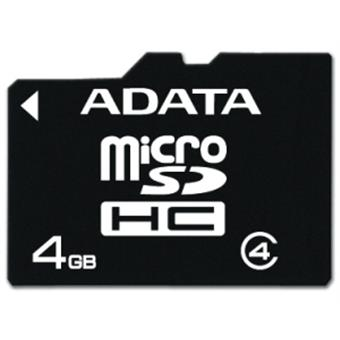 ADATA 4GB MicroSDHC Card with Adaptor Class 4