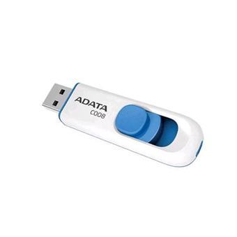 8GB USB ADATA C008  bílo/modrá (potisk)